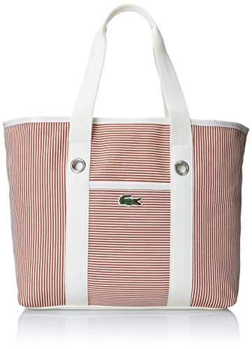 Lacoste Women's Summer Fantaisie Medium Shopping Bag, Autumn Glaze White, One Size