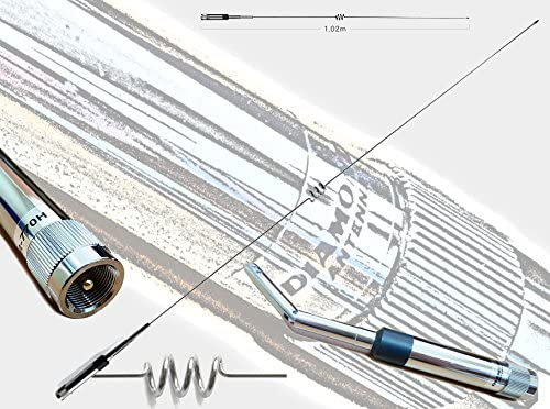 Diamond nr-770h Antena móvil bibanda 144-430 MHz.