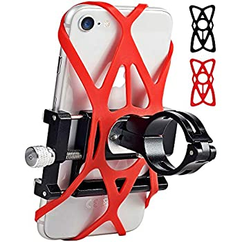 Aluminum Motorcycle Handlebar Universal Bicycle Phone Mount Metal GPS Holder 360