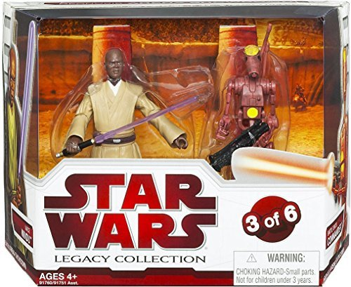 Japan Import Star Wars Legacy Collection Geonosis Arena Showdown - Mace Windu and Battle Droid Commander