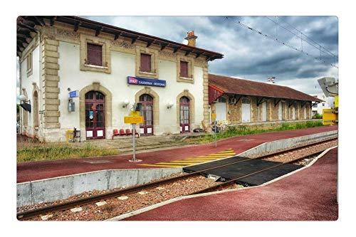 Tree26 Indoor Floor Rug/Mat (23.6 x 15.7 Inch) - Gironde France Train Station Depot Railroad
