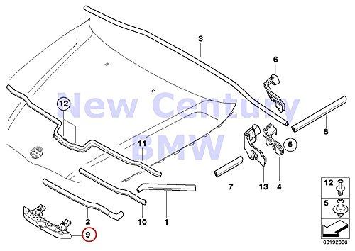 Bonnet Seal - BMW Genuine Seal Hood Front Engine Bonnet Seal 323i 328i 328xi 335d 335i 335xi M3 328i 328xi