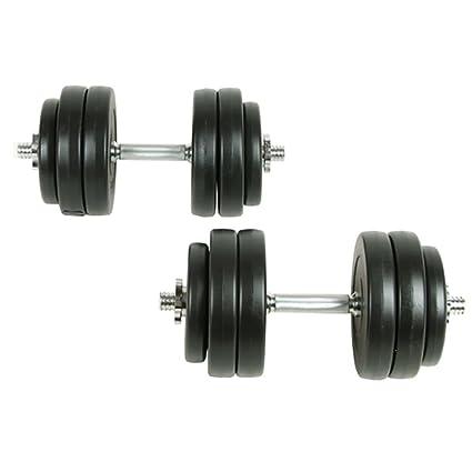 vidaXL Juego de pesas 30kg Mancuernas fitness Musculación entrenamiento Discos de pesas