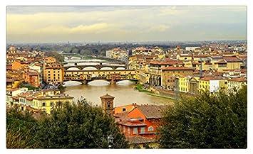 Italia Casas Ríos puentes Florencia ciudades muebles & decoración ...