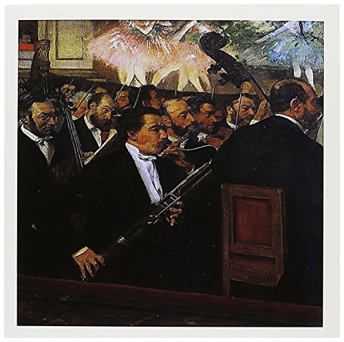 3dRose The Orchestra of the Opera by Edgar Degas Man Playing a Bassoon - Greeting Cards, 6 x 6 inches, set of 12 (gc_171335_2)