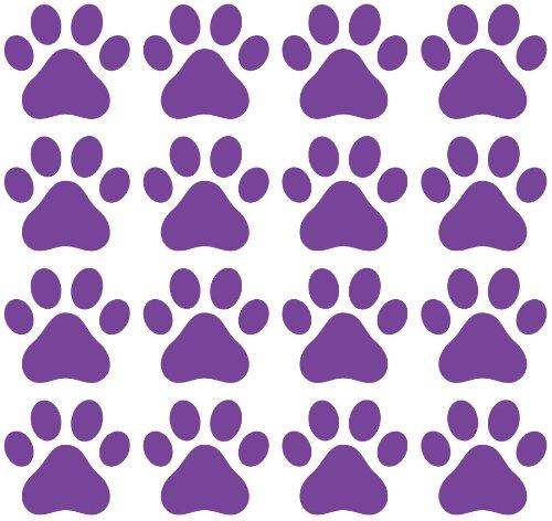 Dog Paw Prints (48) (PURPLE)