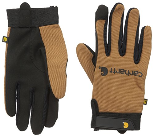 Carhartt Men's The Fixer Spandex Work Glove with Water Repellant Palm, Brown, XX-Large by Carhartt
