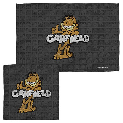 Garfield Retro Face Hand Towel Combo White