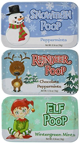 Set of 3 Novelty Mint Tins (Holiday) ()