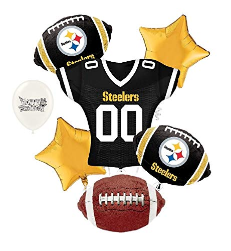 (Pittsburgh Steelers NFL Football Party Balloon Bouquet Bundle)