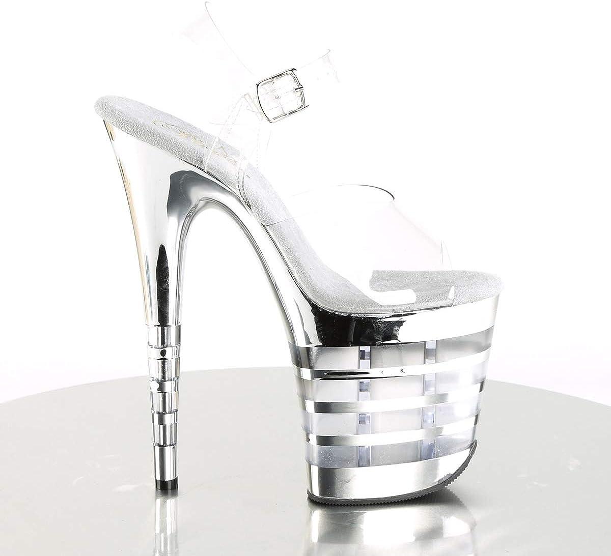 Pleaser Womens Flamingo-808CHLN Ankle-Strap Sandal