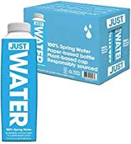 JUST Water, Premium Pure Still Spring Water in an Eco-Friendly BPA Free Plant-Based Bottle - Naturally Alkalin