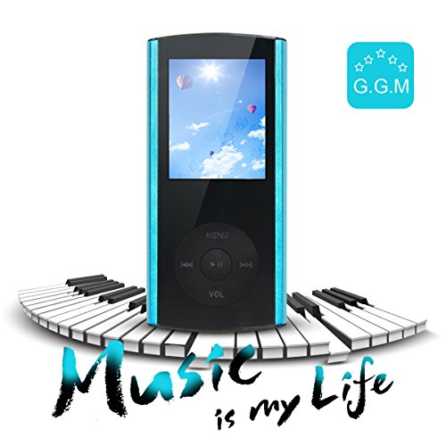 G.G.Martinsen Crystal-faceted 8 GB Multi-lingual Selection 1.8 LCD Portable Mp3/Mp4, Video Player, Music Player, Media Player, Video Player, Audio Player with a Slot for a micro SD card—Blue