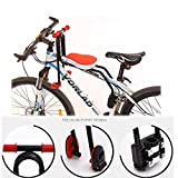 WSBBQ Bike Saddle, Child Bicycle Seat Front Mount Child Bicycle Seat with Handle Detachable,Red