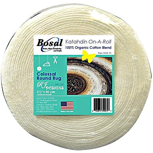 Bosal Katahdin 100% Organic Cotton Blend Batting On A Roll 2.5 inches x 50 Yards (1)