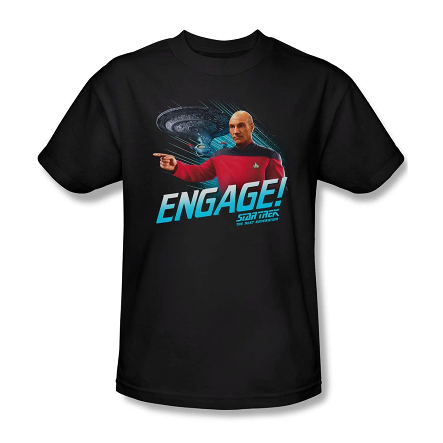 Star Trek - Mens Engage T-Shirt In Black