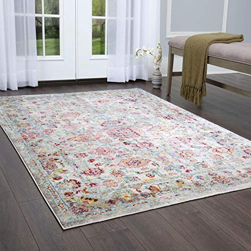 (Home Dynamix 178-602 Vision Lesa Area Rug Ivory/Red/Gray)