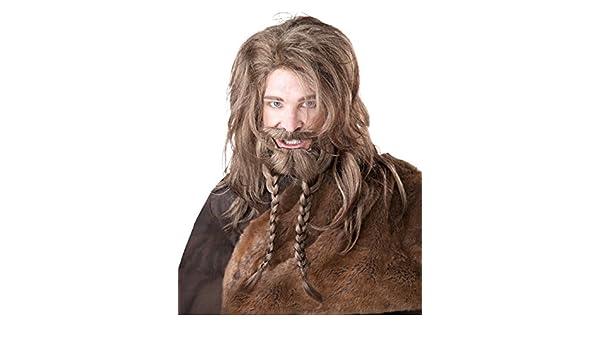 Générique California disfraz - pe876 - Set peluca Vikingo, barba, trenzas y bigote: Amazon.es: Juguetes y juegos