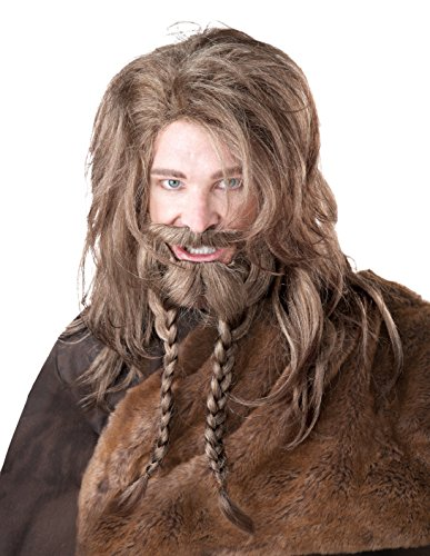 Mens Costumes Viking (California Costumes Women's Viking Wig Beard and Moustache, Dirty Blonde, One)