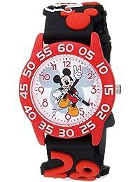 Boy's 'Mickey Mouse' Quartz Plastic Casual Watch, Color:Black (Model: WDS000510)
