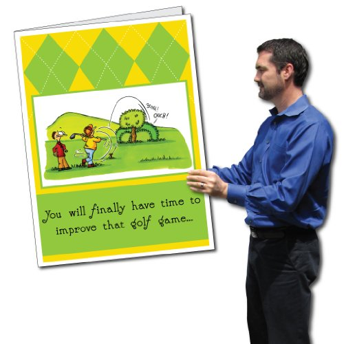 VictoryStore Jumbo Greeting Cards: Giant Retirement Card (Golf) 2' x 3' card with envelope