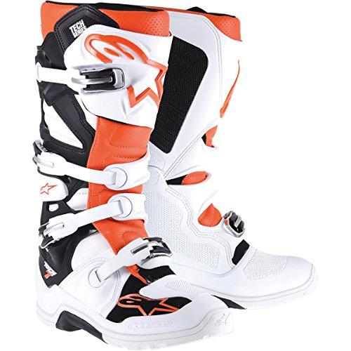 Alpinestars Tech 7 Enduro Men's Off-Road Motorcycle Boots - White/Orange / 10