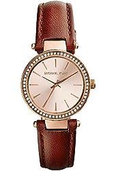 Michael Kors Women's MK2353 - Petite Darci Rosegold/Chocolate Watch