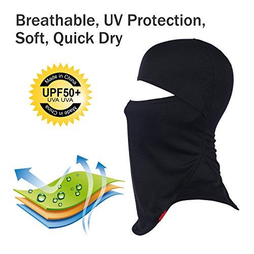 Balaclava Full Face Mask Motorcycle Helmet Liner Breathable Multipurpose Outdoor Sports Wind Proof Dust Head Hood by Qinglonglin (Image #3)