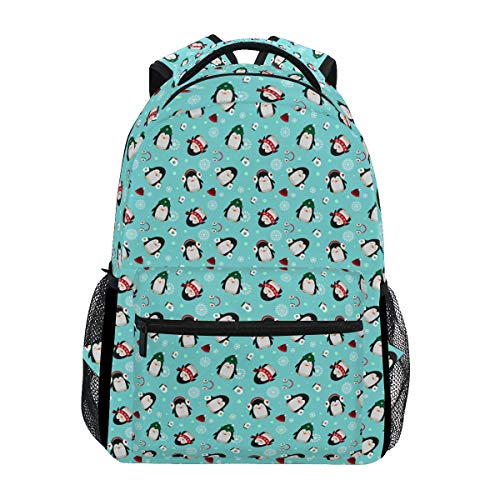 Penguin The Snow Trekking Backpack Fashion Backpack Oversized Backpack Men and Women Durable Travel Computer Backpack 17 Inch Notebook Waterproof Large Business Bag