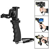 Fantaseal Ergonomic Action Camera Grip Mount Action Cam Handheld Stabilizer Support Camcorder Handle Steadicam handy grip w/ Smartphone Clamp Mount (UP TO 5.7' Screen ) for SONY (Improved Version)