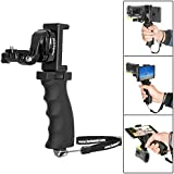 "Fantaseal Ergonomic Action Camera Grip Mount Action Cam Handheld Stabilizer Support Camcorder Handle Steadicam handy grip w/ Smartphone Clamp Mount (UP TO 5.7"" Screen ) for SONY (Improved Version)"