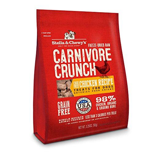 Stella & Chewy's Freeze-Dried Raw Carnivore Crunch Cage-Free Chicken Recipe Grain-Free Dog Treats, 3.25 oz ()