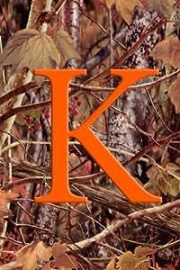 Camuflaje Monogram–K–Monogram–Bandera Decorativa de Jardín Tamaño 12pulgadas x 18pulgadas por Custom D? Cor
