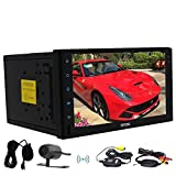 Wireless Rearview Camera include Quad-core Stereo Autoradio Double din Android 6.0 Marshmallow Autoradio Bluetooth GPS Navigation Headunit support Dual-Camera External Microphone Wifi/OBD2/Mirror Link