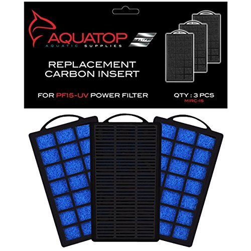Image of Aquatop Aquarium Carbon Cartridge for PF15-UV Hang On UV Filter- 9 Filters Total (3 Boxes with 3 Filters per Box)