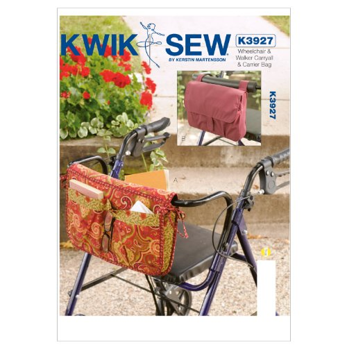Kwik Sew K3927 Wheelchair and Walker Carryall and Carrier Bag Sewing Pattern, No Size by KWIK-SEW PATTERNS