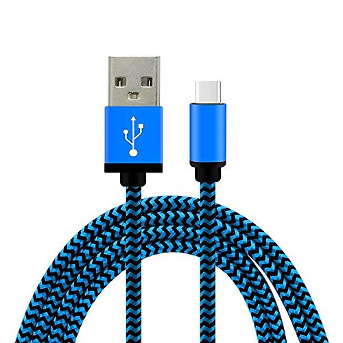 MMRM 1M/3FT USB 3.1 Type C Male to USB 2.0 Male Charging Cable Knitting Data Cord for Nokia N1 - Blue
