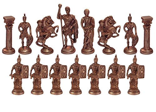 Copper Chess (Indian Handmade Brass Chess Pieces Set Metal Art Sculpture Collectible Figurine Antique Copper Statue Home Decor)