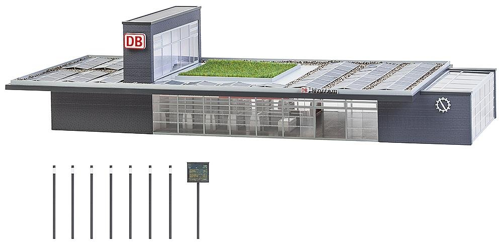 Faller FA 110130 - Bahnhof Horrem, Zubehör für die Modelleisenbahn, Modellbau