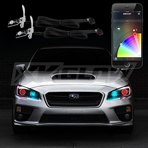 Xkchrome RGB Devil Eyes Smartphone App-enabled Bluetooth Multi-Color Color Changing Auto Off Function