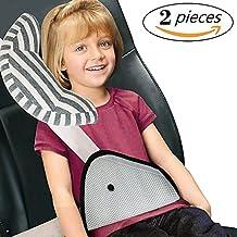 Onshine Seatbelt Adjuster Car Seatbelt Cushion Seatbelt Pad Headrest Neck Support Soft Neck Sleep Pillow for Children Comfort Seat Belt Safety Covers 2 pcs (Color1)