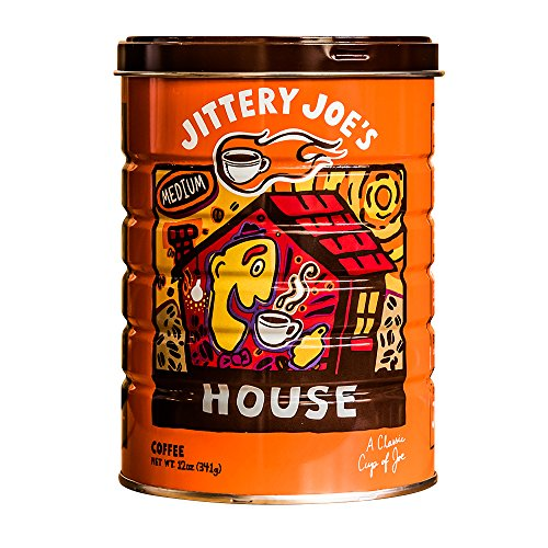 Jittery Joes House Blend Medium Roast Coffee, 12oz, Whole Bean