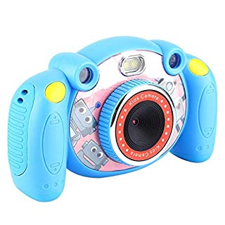 Pokerty Kid Video Camera, 2 Inch Colorful Screen HD 720P Cute Kids Children Toy Digital Video Camera Mini(Blue)
