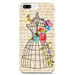 Inspired Cases Vintage Floral Wire Mannequin - White Case - Apple iPhone 8 Plus