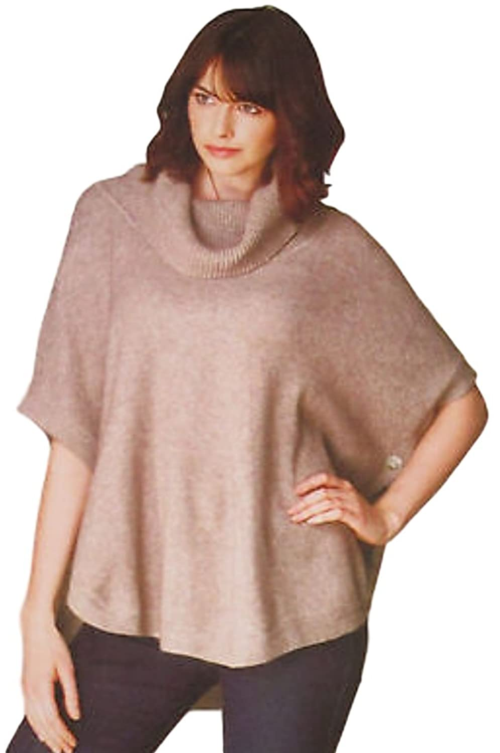 Sisters Mocha Cowl Neck Poncho Sweater at Amazon Women's Clothing ...