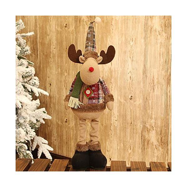 Afaneep Decorazione Natalizia Gnomo 60 cm di Altezza Gambe Retrattili Fatte a Mano Pupazzo di Neve di Natale Bambole di Pezza Babbo Natale Pupazzo di Neve Alce Natale Decorazione e Regalo 4 spesavip