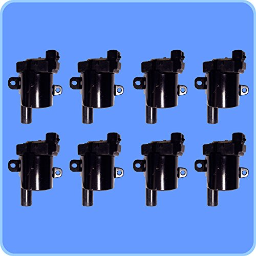 New AD Auto Parts High Performance Ignition Coil D585G Set of 8 For Cadillac Chevrolet GMC Hummer Isuzu Workhorse