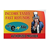 Income Taxes Fast Refunds Irs Indoor Store Sign Vinyl Decal Sticker - 19.5inx48in,