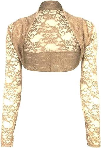 a maniche lunghe blu Bolero da donna colore: nero in pizzo bianco krautwear rosa Hotrosa s5255-06 Taglia unica beige rosso