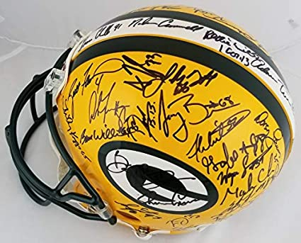 e916d0d3108 1996 Packers SB Team Signed Full Size Proline Helmet w White   Favre JSA LOA